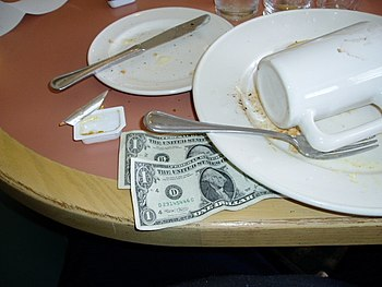 Tip left for good service at my local Coco's. ...