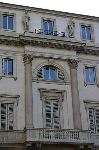 Dentil - Image: 3619 Milano Luigi Clerichetti, Palazzo Tarsis (1836 38) in V. S. Paolo Foto Giovanni Dall'Orto, 23 June 2007