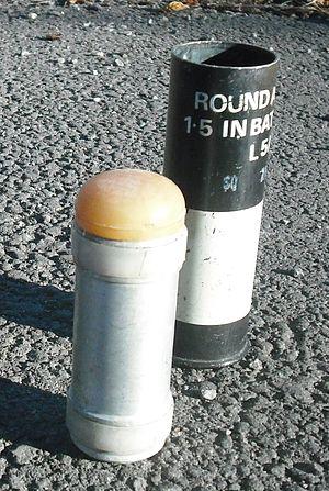 Plastic bullet - Image: 37mm plastic baton round