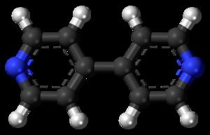 4,4'-Bipyridine - Image: 4,4' Bipyridine 3D balls