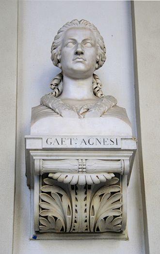 Maria Gaetana Agnesi - Bust of Maria Gaetana Agnesi in Milan