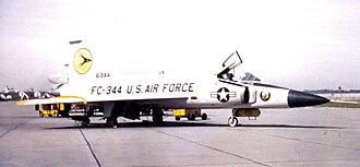 Paine Field - 64th Fighter-Interceptor Squadron Convair F-102A-75-CO Delta Dagger 56-1344, 326th Fighter Group, March 1960