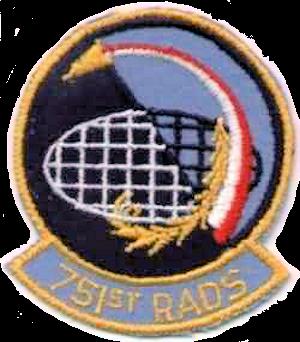 Mount Laguna Air Force Station - Emblem of the 751st Radar Squadron