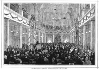 1884 in Denmark - Peter Ludwig Panum speaking at the opening ceremony at the 8th International Medical Congress in Copenhagen