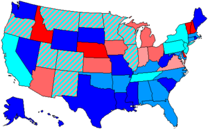 92nd United States Congress - Image: 92 us house membership
