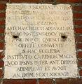 9605 - Milano - Sant'Ambrogio - Cortile - Lapide Isidoro Pusterla 1693 - Foto Giovanni Dall'Orto 25-Apr-2007.jpg