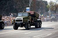 """9K51 """"Grad"""" launcher on KrAZ chassis.jpg"""