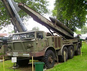 Wyrzutnia rakiet klasy ziemia-ziemia 9 P 113 &...