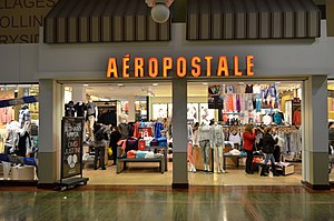 Aéropostale (clothing) - Aéropostale store in Vaughan Mills, Vaughan, Ontario.