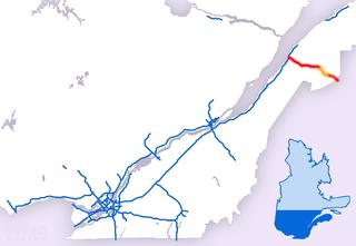 Quebec Autoroute 85 Highway in Quebec