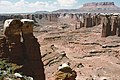 A074, Canyonlands National Park, Utah, USA, Monument Basin from White Rim, 2002.jpg