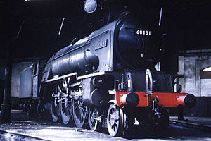 LNER Peppercorn Class A1 - 60131 Osprey at Leeds Neville Hill locomotive shed on 18 April 1965