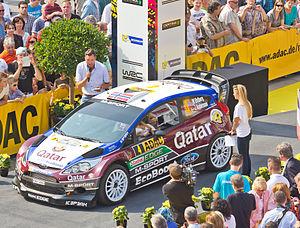 M-Sport World Rally Team - Mads Østberg at the 2013 Rallye Deutschland.