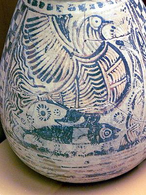 Phaistos - Image: AMI Vogel mit Fisch