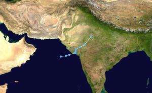 2015 Gujarat cyclone - Image: ARB02 2015 track