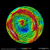 A False-Color Topography of Vesta's South Pole.jpg