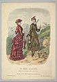 A Lady in a Hunting Costume with a Lady in Walking Costume on a Mountain Path from La Mode Illustrée MET DP819180.jpg