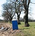 A blue portable toilet - geograph.org.uk - 1743579.jpg
