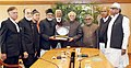 A delegation of the Marwar Muslim Educational and Welfare Society calling on the Vice President, Shri M. Hamid Ansari, in New Delhi on January 13, 2017.jpg