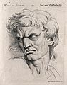 A man glowering, expressing hatred or jealousy. Engraving by Wellcome V0009360.jpg