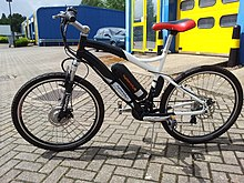 677c250c13c A mountain bike styled e-bike: a Cyclotricity Stealth. A moped-style ...
