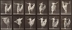 A woman dancing. Photogravure after Eadweard Muybridge, 1887 Wellcome V0048646.jpg