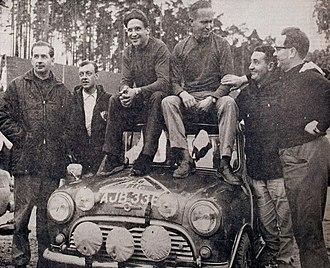 Paddy Hopkirk - Image: Aaltonen, Mäkinen and Hopkirk 1965 Rally Finland