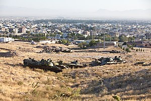 Abandoned armored fighting vehicles in Herat, Afghanistan.jpg