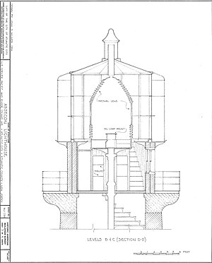 Absecon Lighthouse - HABS drawing of the top level