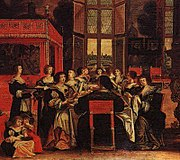 """A Salon of Ladies"" by Abraham Bosse"