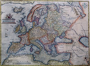 History of Europe - Image: Abraham Ortelius Map of Europe