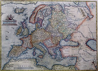Early modern Europe - Abraham Ortelius: Map of Europe, 1595