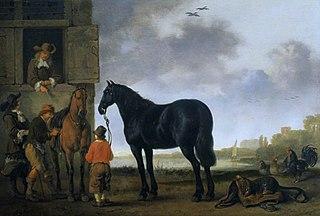 Saddling Horses