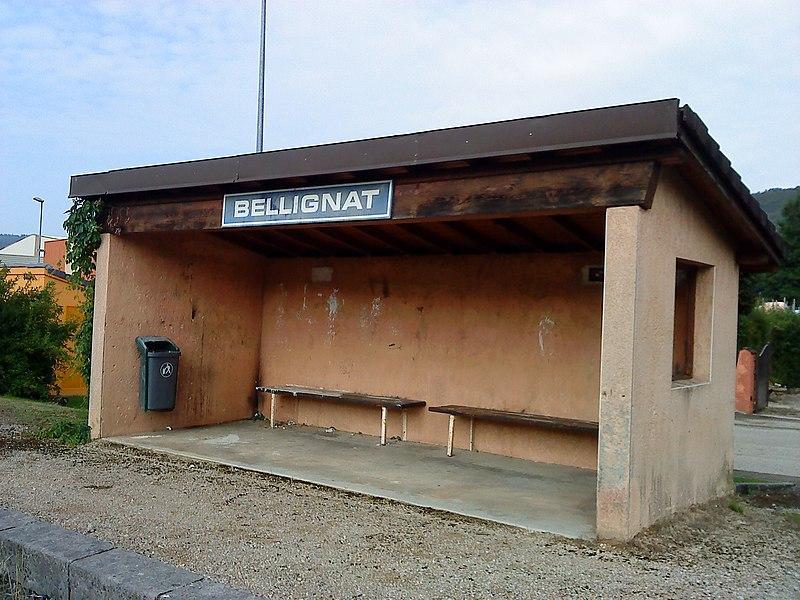 L'abri de la gare de Bellignat
