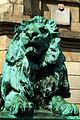 Adolf Rosenthal Braunschweiger Löwen Mimik des rechten vor der Gottfried-Wilhelm-Leibniz-Universität Hannover Welfengarten 1.jpg