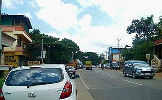 Main Central Road - Image: Adoor Main Central Road (SH 1)