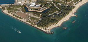 Fort Zachary Taylor Historic State Park - Aerial view of Fort Zachary Taylor State Park