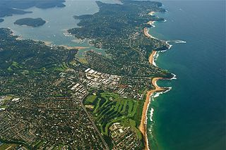 Pittwater estuary in Sydney, Australia