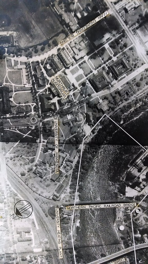 University Of Minnesota Map East Bank.File Aerial View Of The University Of Minnesota Twin Cites Campus