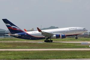 Rotation (aeronautics) - An Aeroflot Il-96 rotating.
