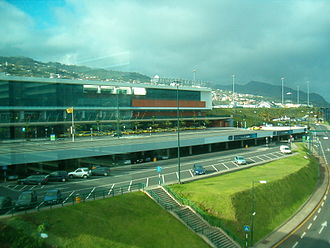 Madeira Airport - Partial view of the airport's main building