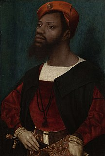 <i>Portrait of an African Man</i> painting by Jan Mostaert