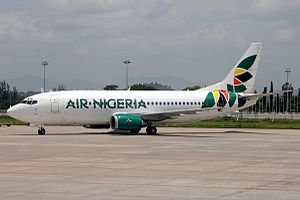 Air Nigeria - An Air Nigeria Boeing 737-300 at Nnamdi Azikiwe International Airport, Abuja. (2011)