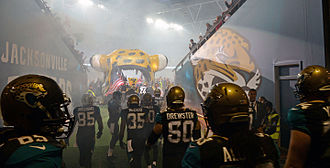 Jaguars take the field at their NFL International Series game at Wembley  Stadium in London on October 27 6f290a2af