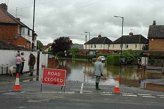 Alcester - Flood in July 2007