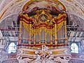 Aldersbach Klosterkirche Innen Orgel 2.JPG