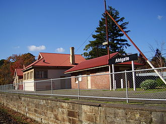 Aldgate, South Australia - Aldgate's railway station was closed in the late 1980s.