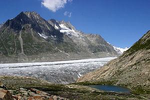 Märjelensee - Image: Aletschgletscher Märjelensee