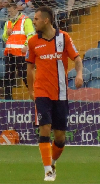 Alex Lawless - Lawless playing for Luton Town in 2011