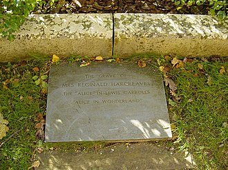 Alice Liddell - The grave of Alice Hargreaves in the graveyard of the church of St Michael and All Angels, Lyndhurst